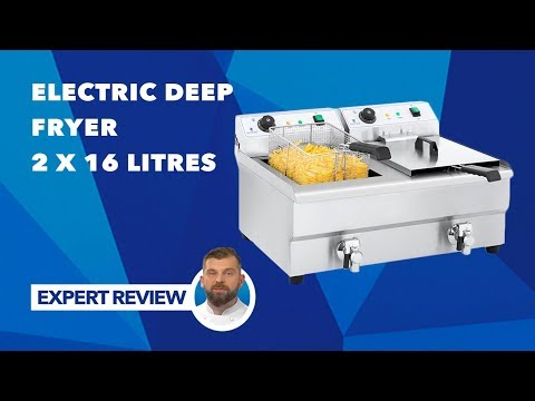 Electric Deep Fryer – 2 x 16 litres