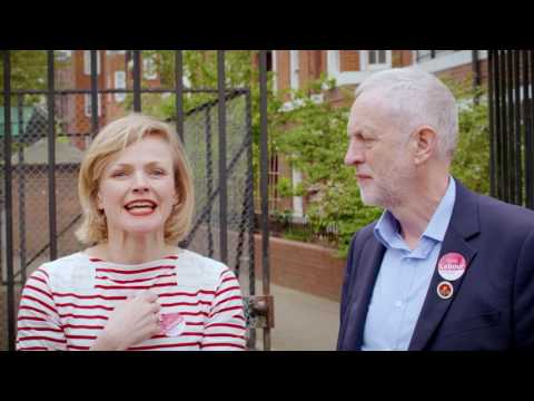 Jeremy Corbyn  On the Labour doorstep with Maxine Peake