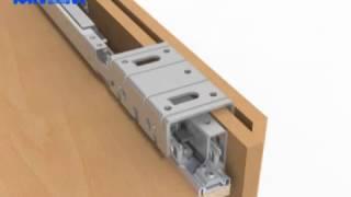 Монтаж подвесной раздвижной системы PS10 (Cinetto) для шкафов-купе