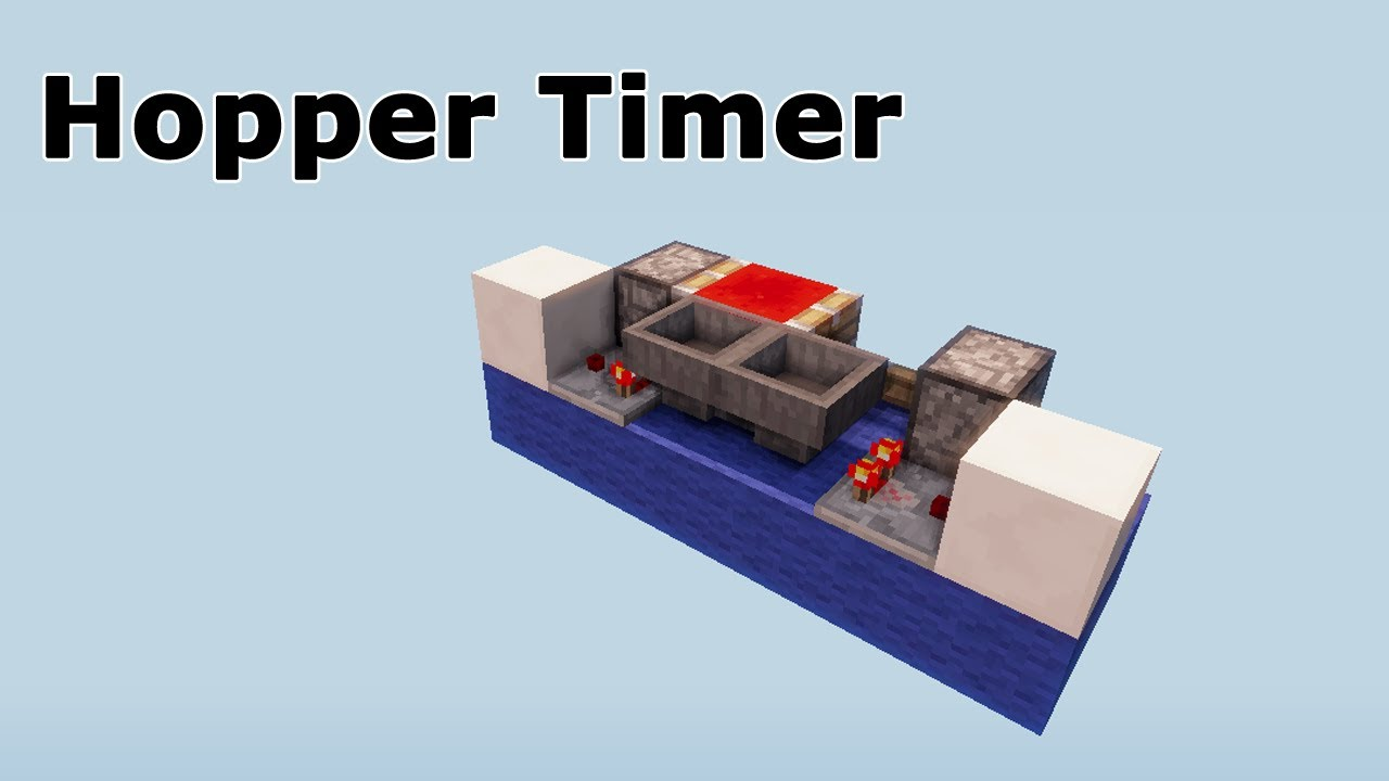 Long minecraft timer with hoppers