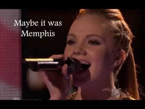 Danielle Bradbery Maybe it was MemphisLyrics