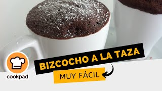 Bizcocho a la taza ♥ más fácil imposible ♥ Recetas de bizcochos en microondas