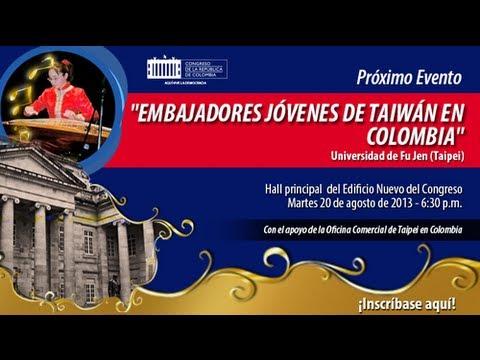 """Agenda Cultural del Congreso No. 29 """"Embajadores Jóvenes de Taiwán en Colombia"""""""