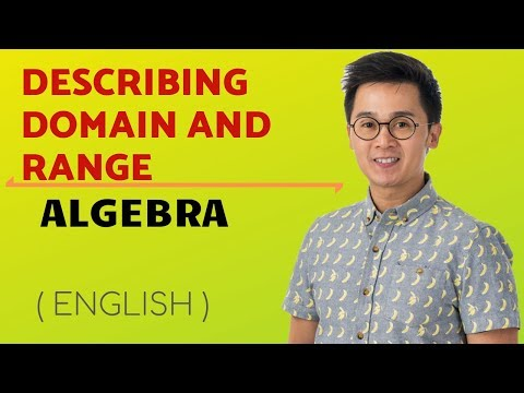 ALGEBRA: Describing the Domain and Range