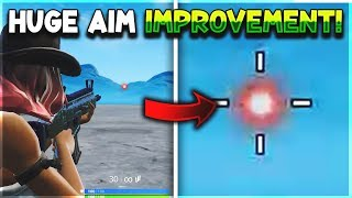 How to *CUSTOMISE* YOUR CROSSHAIR/RETICLE & IMPROVE AIM in Fortnite Season 9...