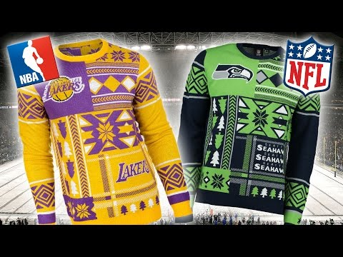NBA And NFL Christmas Jumpers 2015 | Ugly Sweaters