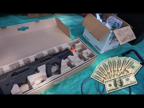 MAKING MONEY AT GARAGE SALES YEEZY  AIRSOFT