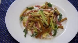 Рецепт салата из грибов Эноки. Авторский рецепт.