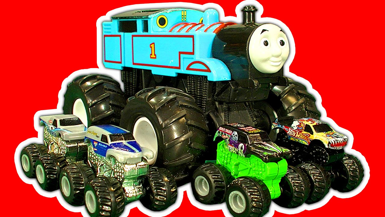 Hot Wheels Mighty Mini's Micro Chargers & Thomas The Tank Monster Truck Custom