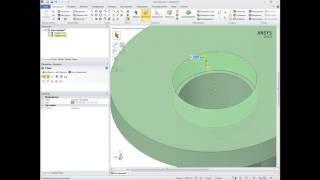 Видеоурок СADFEM VL1510 - Моделирование в ANSYS SpaceClaim