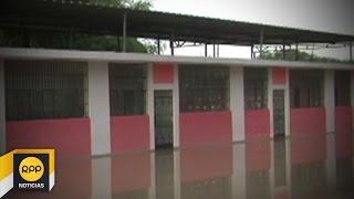 Colegio Marina Purizaca inundado tras lluvias en Piura│RPP