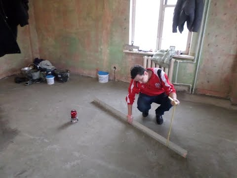 Как сделать цементно песчаную стяжку пола