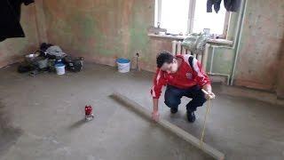 видео Как выполняется заливка пола бетоном, расчет материала
