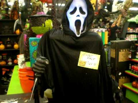halloween outlet ghost face prop