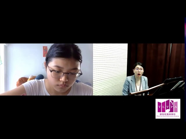 Zoom Singing Lesson with Miss Tiffany Lau