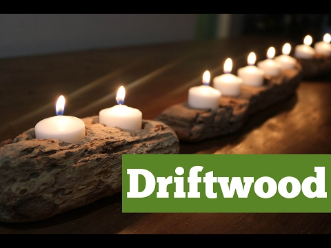 Driftwood Candle Holder | DIY Candle Project | DIY with Caitlin