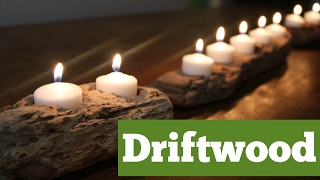 Driftwood Candle Holder   DIY Candle Project   DIY with Caitlin