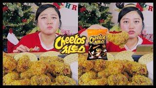 Homemade CHEETOS FRIED CHICKEN Recipe Mukbang  KEEMI