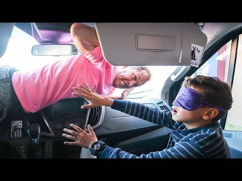 BLINDFOLD Hide & Seek in the VAN! Craziest Hiding spots ever!