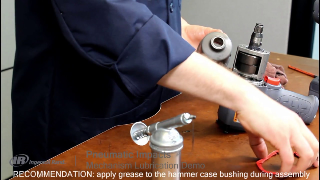 How to lubricate the impact mechanism on a pneumatic