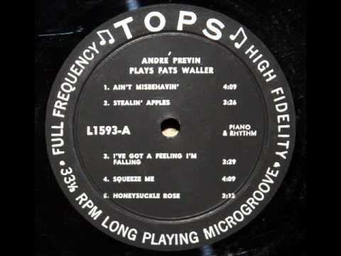 Fats Waller / Andre Previn, 1953: Squeeze Me - Buddy Clark, bass, Shelly Manne, drums