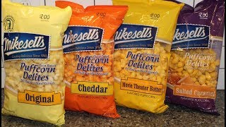 Mikesell's Puffcorn Delites: Original, Cheddar, Movie Theater Butter & Salted Caramel Review
