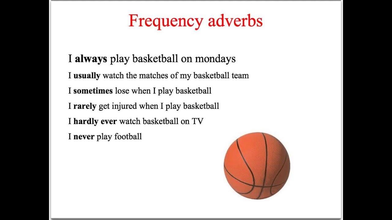 Frequency Adverbs Adverbios De Frecuencia English