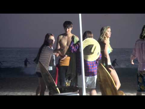 [Fancam] Lee Min Ho shirtless at Heirs Filming 130918