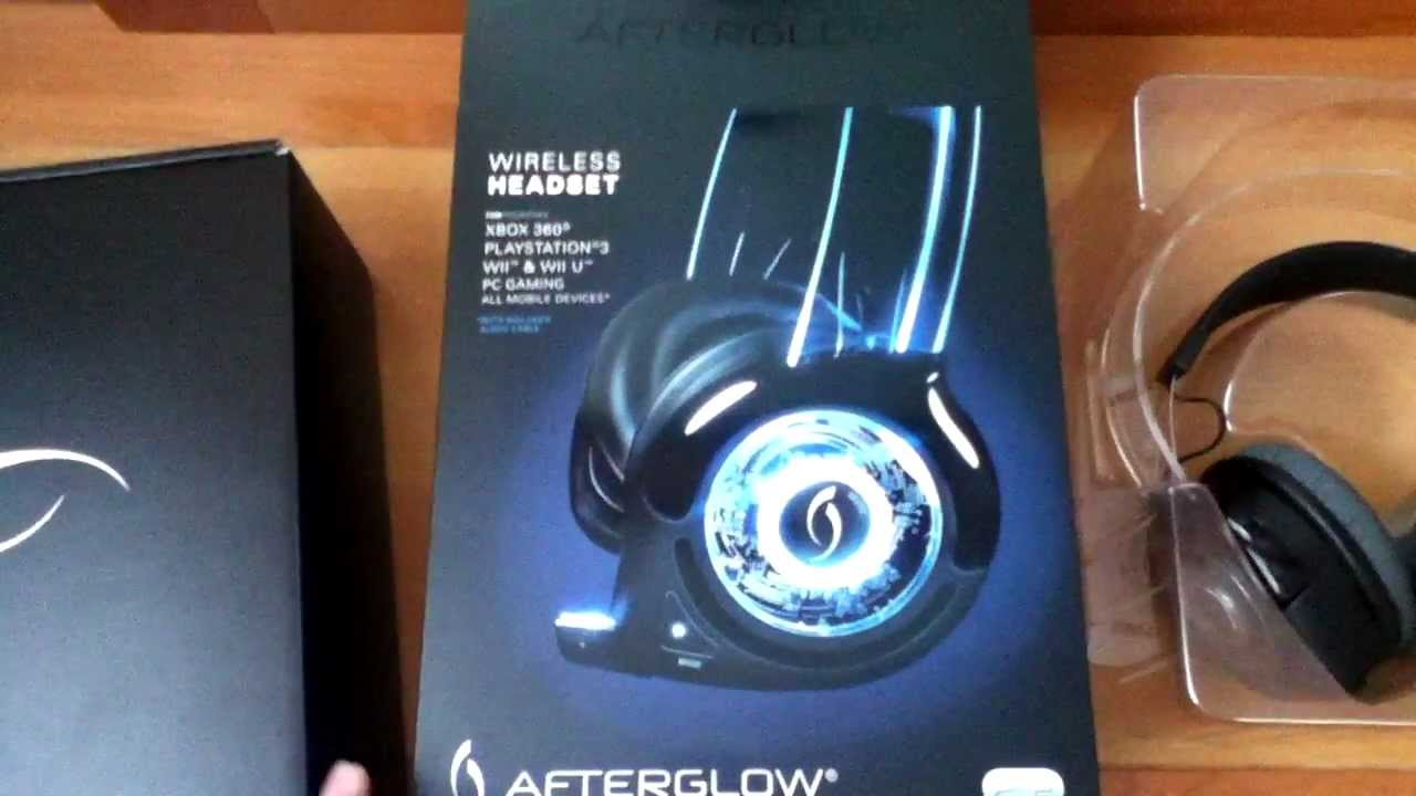 PDP Afterglow Headset Unboxing, Review & Setup (Wii U, Wii, Xbox 360 ...