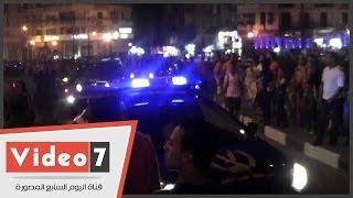 قوات الانتشار السريع تمنع المواطنين من الاحتفال بحرم الطريق فى