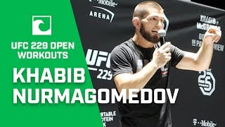 Khabib Nurmagomedov THROWS Training Partner, Sends Message To Irish Fans At UFC 229 Open Workout