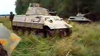 Paintball tank under infantry attack