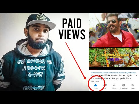 Viswasam Motion Poster Reaction & Review - Did Viswasam Motion Poster Got Paid Views ?