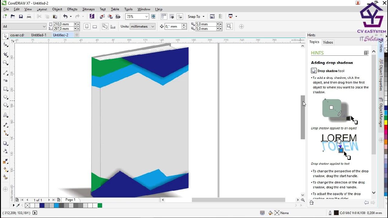 Tutorial Membuat Cover Buku Corel Draw X7 Youtube