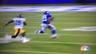 Rashad Jennings 73-yard td vs steelers.    New York giants vs. Pittsburg steelers 2014 preseason