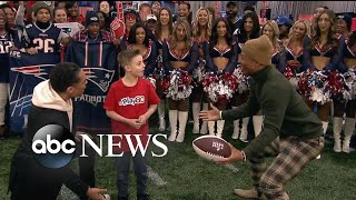'GMA' kid correspondent gets the surprise of a lifetime from an NFL superstar | GMA