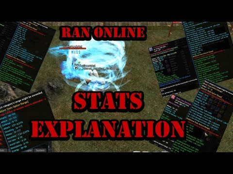 Ran Online - Stats Explenation. For Real?