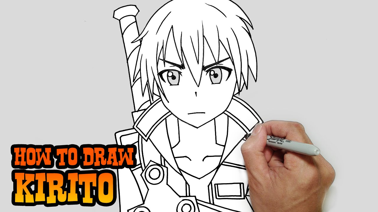 How To Draw Kirito Sword Art Online Video Lesson