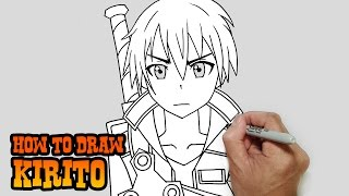 How to Draw Kirito- Sword Art Online- Video Lesson(Learn how to draw Kirito aka: Kirigaya Kazuto from Sword Art Online in this easy step by step video tutorial. All my lessons are narrated and drawn in real time., 2015-03-17T07:38:51.000Z)