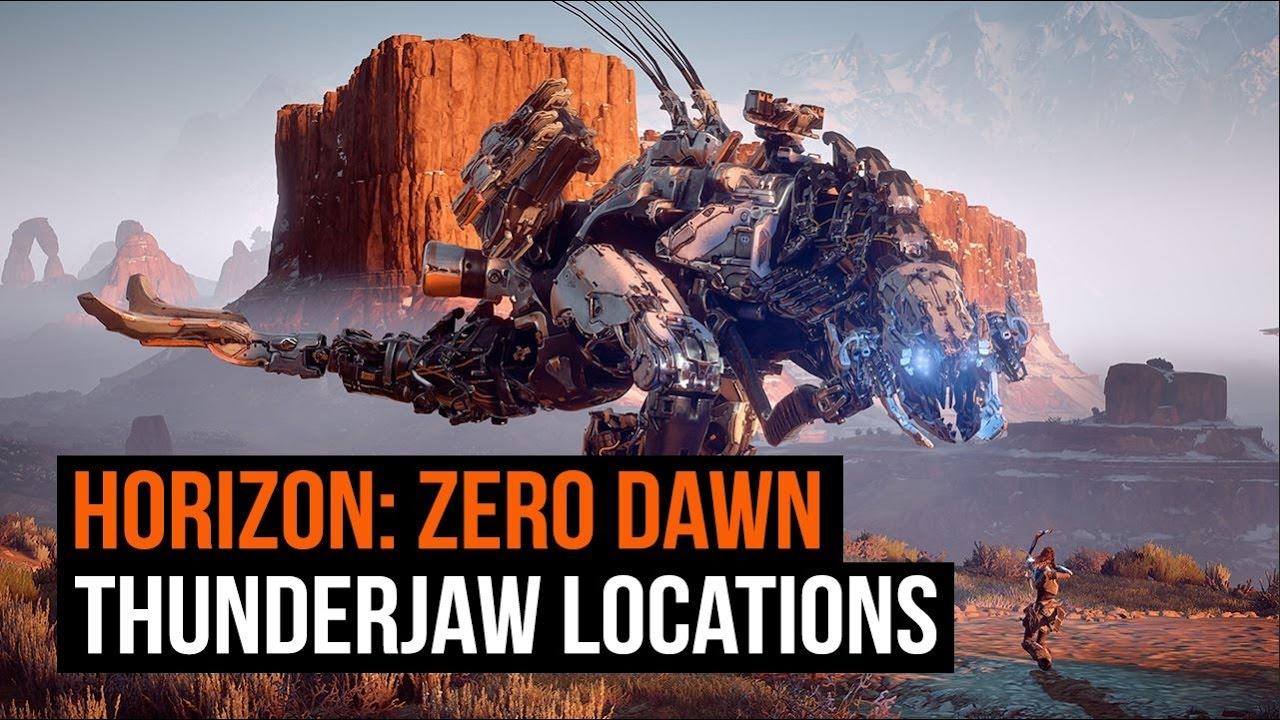 horizon zero dawn how to kill a thunderjaw