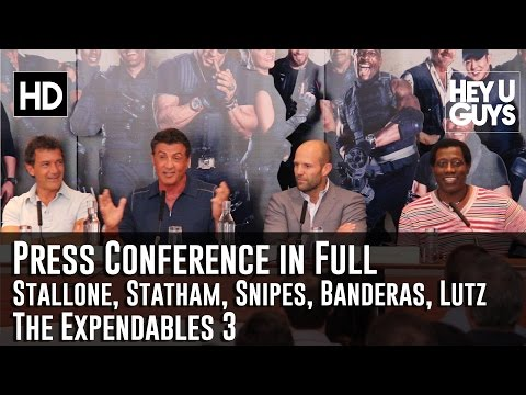 The Expendables 3 Press Conference in Full - Stallone, Snipes, Statham, Banderas & Lutz
