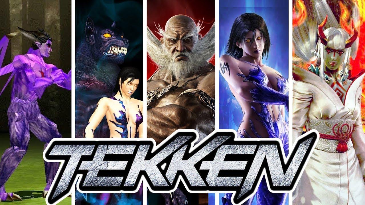 Tekken 1 to 7 (Series) - All Bosses [1080p60]