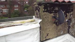 Water Tank On Flat Roof Rotted