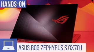 Asus ROG Zephyrus S GX701Hands-On: Flaches Gaming-Notebook mit RTX-Grafik