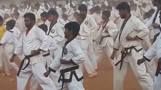 GUINNESS WORLD RECORD BREAK 2017 @ Nellore Andhra.(12min 15 sec) KARATE A KATA  on 8th April 2017