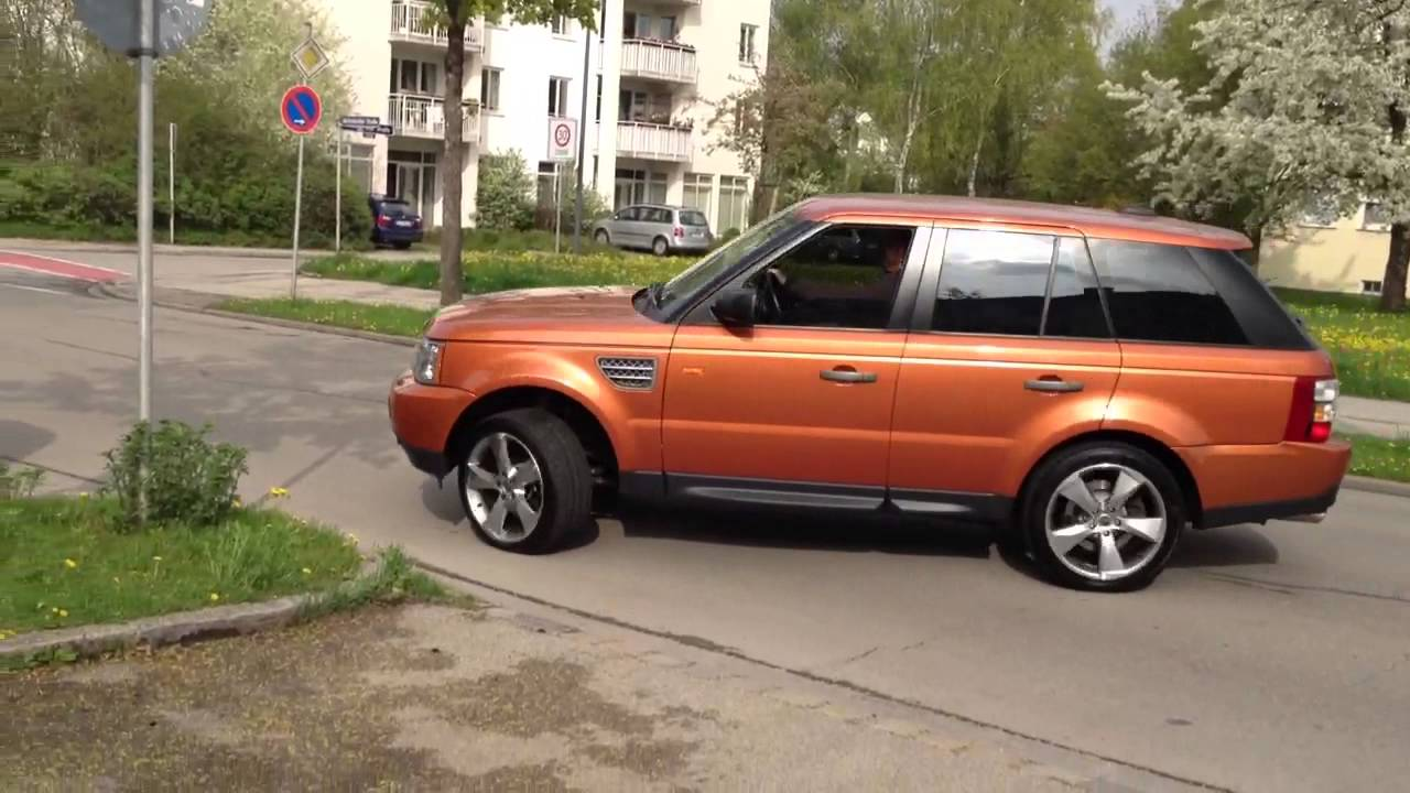 range rover sport supercharged m nchen loud sound youtube. Black Bedroom Furniture Sets. Home Design Ideas