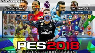 PES 2018 PSP (PPSSPP / iOS / ANDROID) Super Atualizado! Download ISO and Savedata