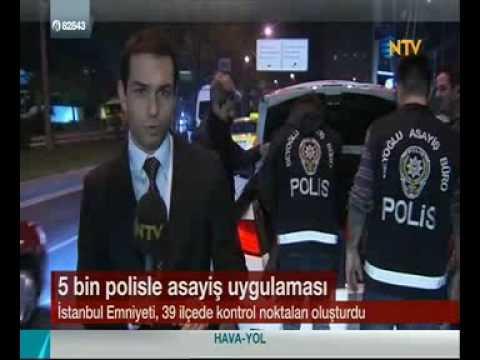 İstanbul Emniyeti Asayiş Uygulamasında - 1 Nisan 2016 NTV Haberi