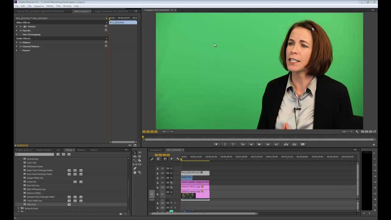 Working with Green Screen in Premiere Pro CC - YouTube