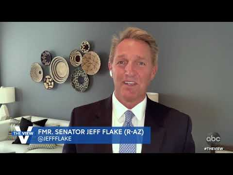 "Jeff Flake ""Glad"" to See Pence Separate Himself from Trump Following Capitol Attack 